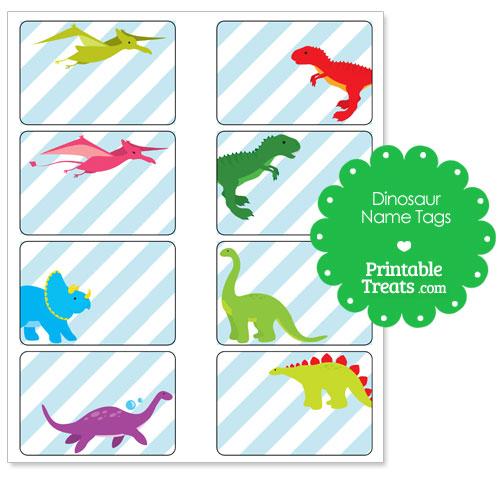 printable dinosaur name tags