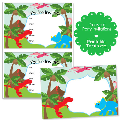 printable dinosaur party invitations