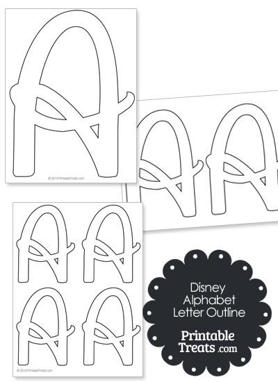 Printable Disney Letter A Outline from PrintableTreats.com