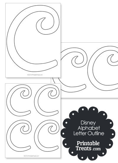 Printable Disney Letter C Outline from PrintableTreats.com