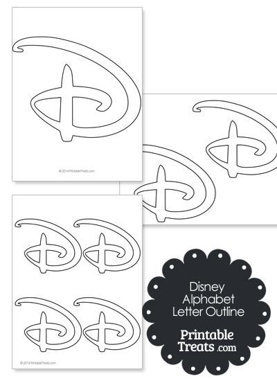 Printable Disney Letter D Outline from PrintableTreats.com