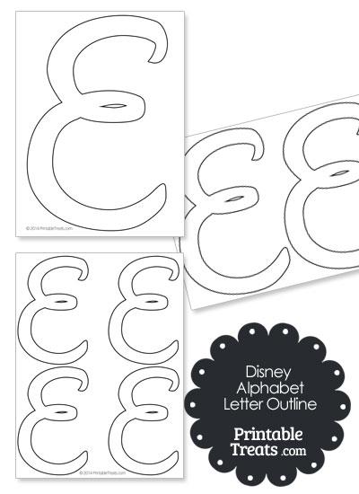 Printable Disney Letter E Outline from PrintableTreats.com