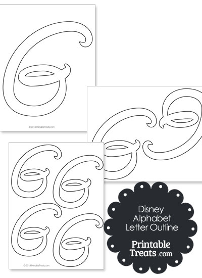 Printable Disney Letter G Outline from PrintableTreats.com