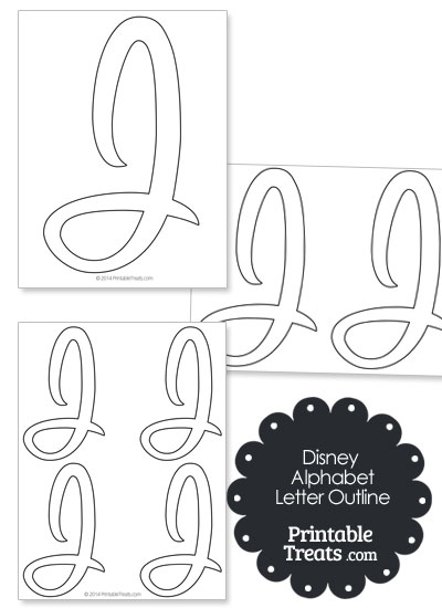 Printable Disney Letter J Outline from PrintableTreats.com