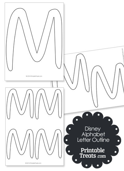 Printable Disney Letter M Outline from PrintableTreats.com