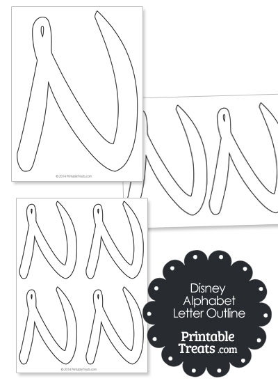 Printable Disney Letter N Outline from PrintableTreats.com