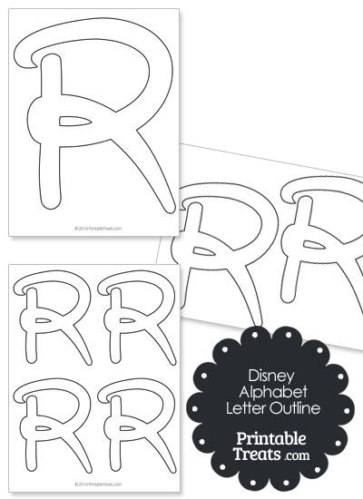 Printable Disney Letter R Outline from PrintableTreats.com