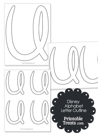 Printable Disney Letter U Outline from PrintableTreats.com