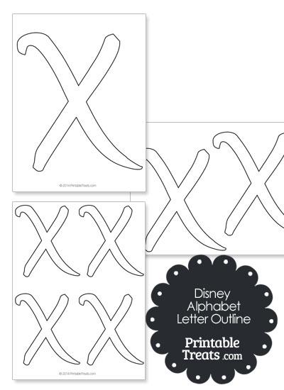 Printable Disney Letter X Outline from PrintableTreats.com
