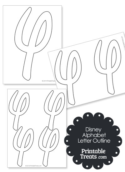 Printable Disney Letter Y Outline from PrintableTreats.com