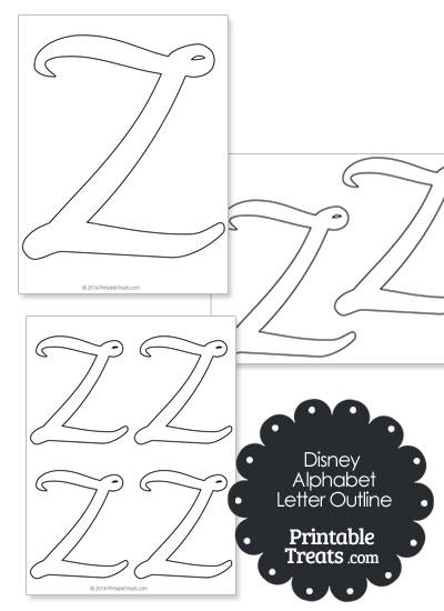 Printable Disney Letter Z Outline from PrintableTreats.com