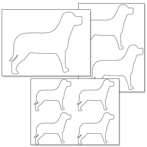 printable dog shapes