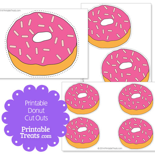 printable donut cut outs