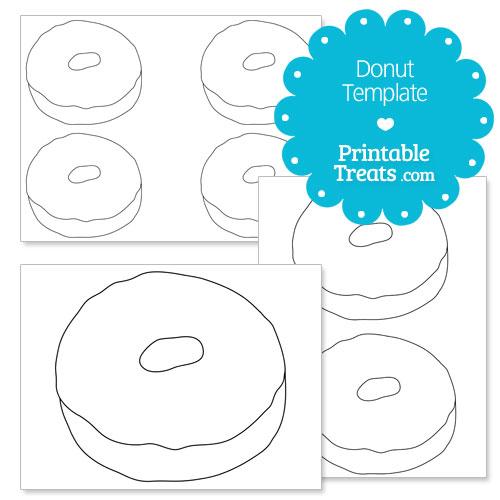 printable donut template