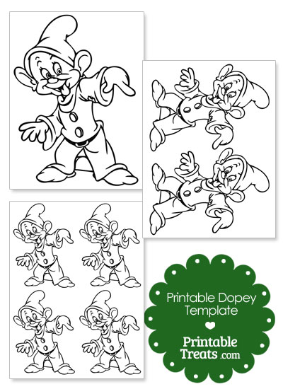 Printable Dopey Template from PrintableTreats.com