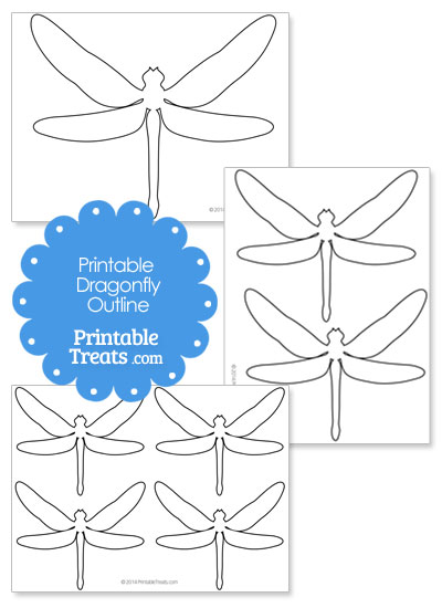 Printable Dragonfly Outline from PrintableTreats.com