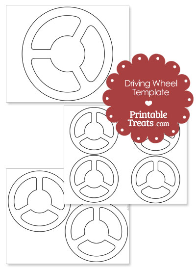 Printable Driving Wheel Template from PrintableTreats.com