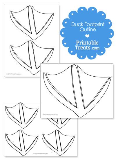 Printable Duck Footprint Template from PrintableTreats.com