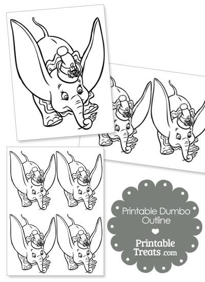 Printable Dumbo Outline from PrintableTreats.com