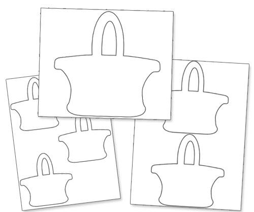 printable easter basket template