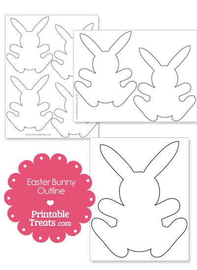 Printable Easter Bunny Outline from PrintableTreats.com