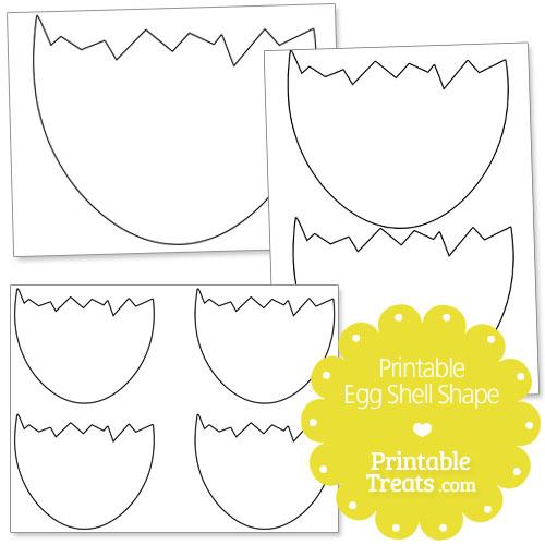 printable egg shell shape