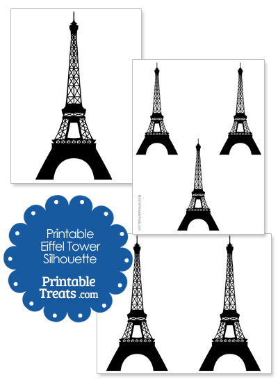 Printable Eiffel Tower Silhouette from PrintableTreats.com