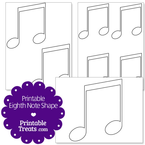 printable eighth note shape