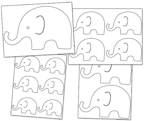 printable elephant outline