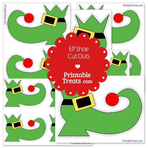 printable elf shoe cut outs
