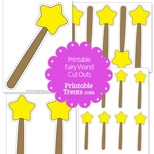 printable fairy wand cut outs