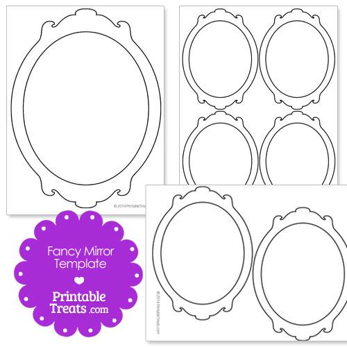 printable fancy mirror template