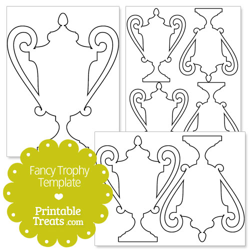 printable fancy trophy template