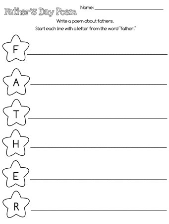 printable fathers day acrostic poem