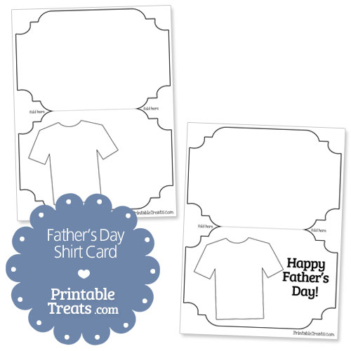 printable fathers day shirt card