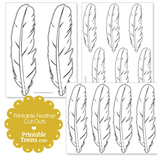 printable feather cut outs