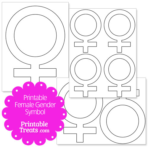 printable female gender symbol