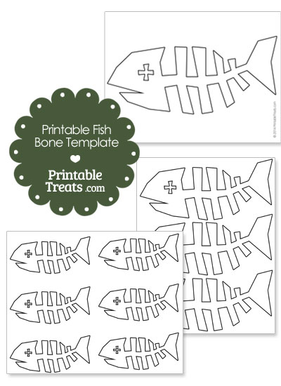 printable fish bone template