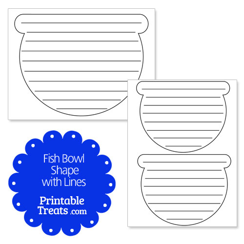 printable fish bowl shape with lines