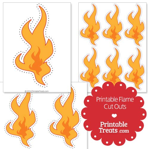 printable flame cut outs