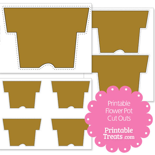 printable flower pot cut outs