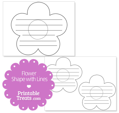 flower shape with lines