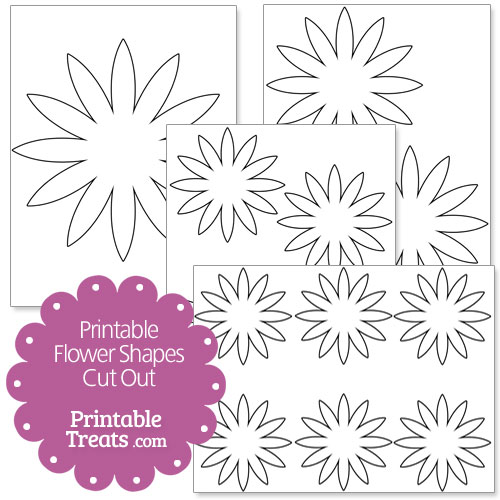 printable flower shapes cut out