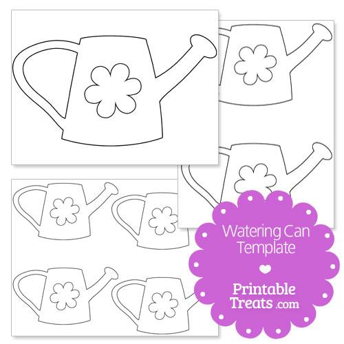printable flower watering can template