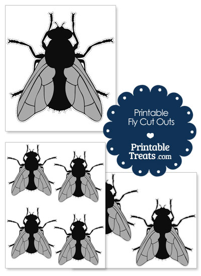 Printable Fly Cut Out from PrintableTreats.com