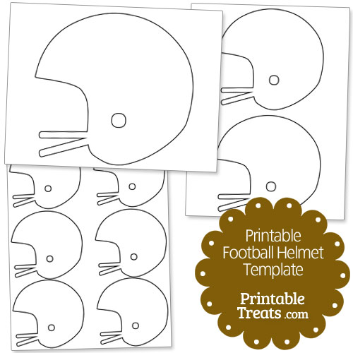 printable football helmet template