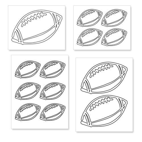 printable football shapes
