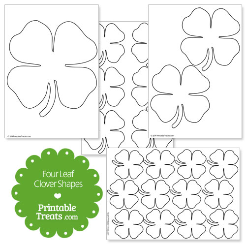 printable four leaf clover shapes
