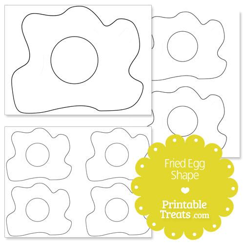 printable fried egg shape template