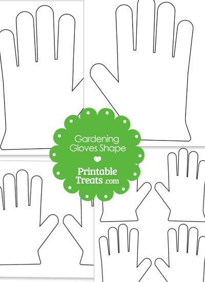 Printable Gardening Glove Shape from PrintableTreats.com